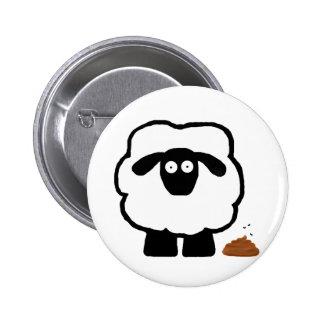 Botón vacío de las ovejas pins