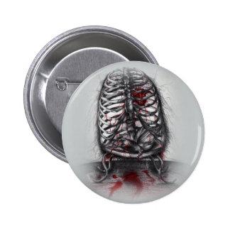 Botón vacío del arte del horror de la anatomía de pin