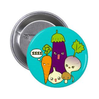 Botón vegetal del arte del Doodle de la familia Pins