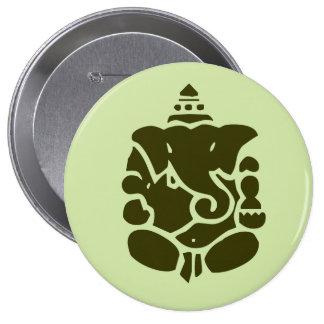 Botón verde de Ganesh Pins