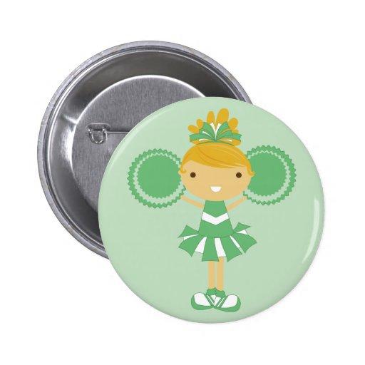 Botón verde de la fiesta de cumpleaños de la anima pin
