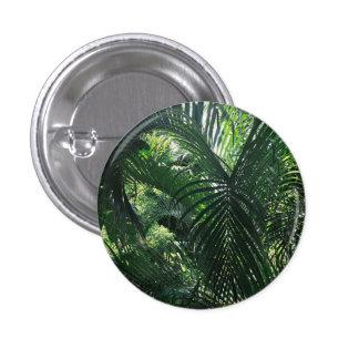 Botón verde de la palmera pin redondo de 1 pulgada