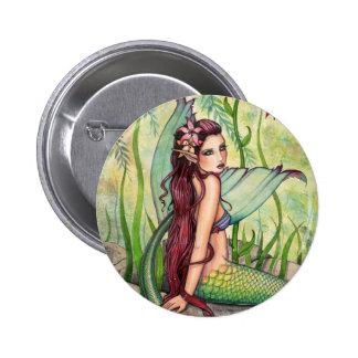 Botón verde de la sirena de la laguna, Pin por Mol