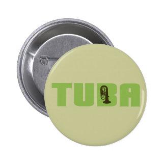 Botón verde de la tuba