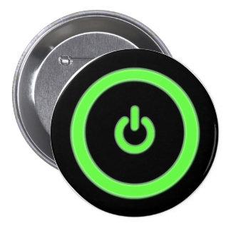 Botón verde del botón de encendido del ordenador