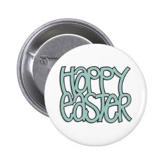 Botón verde feliz de Pascua Pin