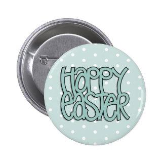 Botón verde feliz del punto de Pascua Pins