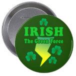 Botón verde irlandés de la fuerza pin
