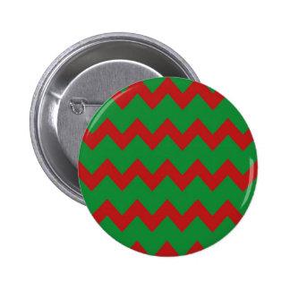 Botón verde rojo de los galones pin redondo de 2 pulgadas
