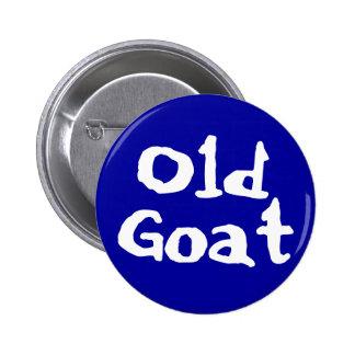 Botón viejo de la cabra pin redondo de 2 pulgadas
