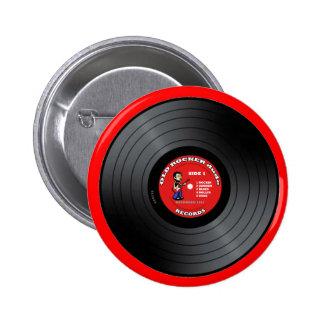 Botón viejo del disco de vinilo del tipo del eje d pin