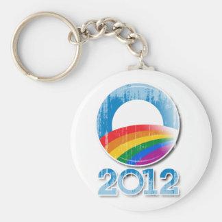 Botón Vintage.png del orgullo de Obama 2012 Llaveros