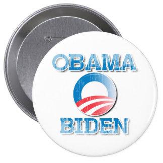 Botón Vintage.png del orgullo de Obama Biden 2012 Pin Redondo De 4 Pulgadas