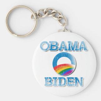 Botón Vintage.png del orgullo de Obama Biden Llavero