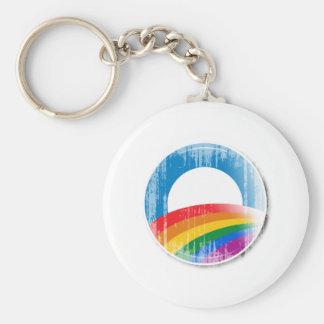 Botón Vintage.png del orgullo de Obama Llaveros Personalizados