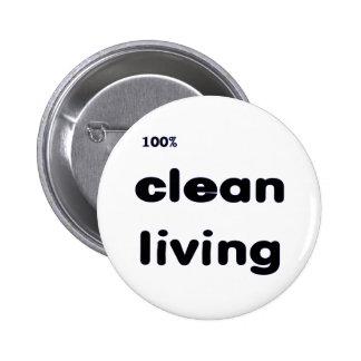 Botón vivo limpio del 100% pin