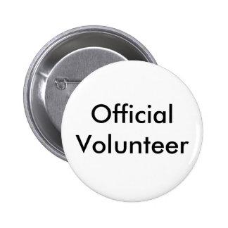 Botón voluntario del funcionario pin redondo de 2 pulgadas