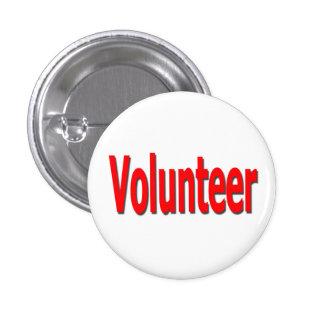 botón voluntario pin redondo de 1 pulgada