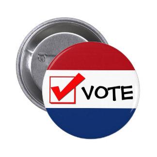¡Botón - voto! Pin Redondo 5 Cm