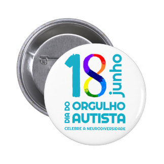 Bóton White Autista Pride Button