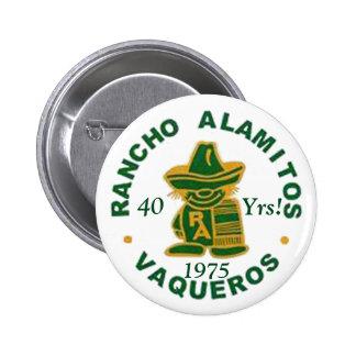 Botones 1975 de la reunión de Rancho Alamitos Chapa Redonda 5 Cm