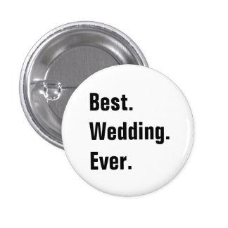 Botones adaptables llenos del boda pin redondo de 1 pulgada