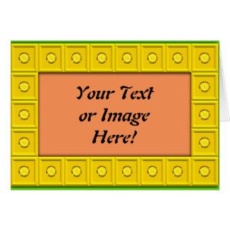 Botones amarillos tarjeta de felicitación