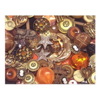 Botones ambarinos celestiales postal