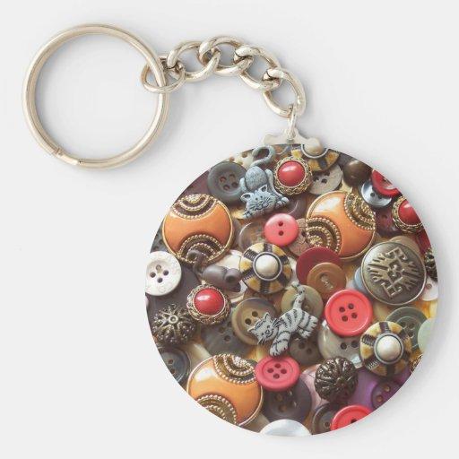 Botones anaranjados de lujo y botones del gatito llavero redondo tipo pin