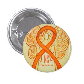 Botones anaranjados del personalizado del ángel de pin redondo de 1 pulgada