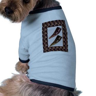 BOTONES artísticos del lazo del arte del CUERNO Camisetas De Mascota
