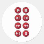 botones audios/video pegatina