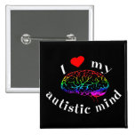 Botones autísticos de la mente pins