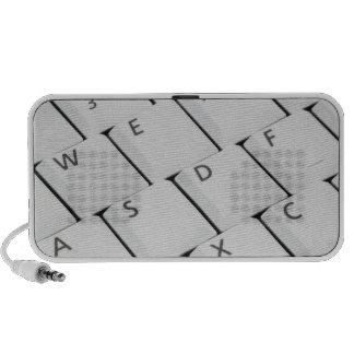 Botones blancos del teclado altavoces