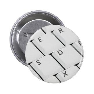 Botones blancos del teclado pins