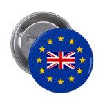 Botones BRITÁNICOS del perno del voto del brexit Pin Redondo De 2 Pulgadas