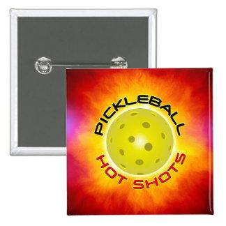 Botones calientes de los tiros 1 de Pickleball Pin Cuadrado