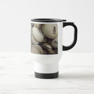 Botones calientes y fríos del vintage de la taza térmica