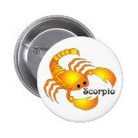 Botones caprichosos del escorpión pin