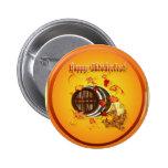 Botones Cerveza-Felices grandes de Oktoberfest Pin