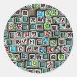Botones coloridos aumentados de la hoja pegatina redonda