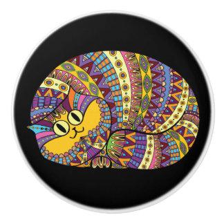 Botones coloridos del gato - SRF Pomo De Cerámica