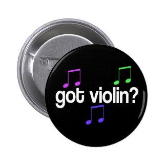 Botones coloridos del jugador del violín pin redondo de 2 pulgadas
