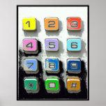 botones coloridos del teléfono posters