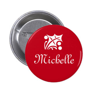 Botones conocidos de la etiqueta para la fiesta de pin redondo de 2 pulgadas