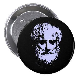 Botones de Aristóteles Pin Redondo De 3 Pulgadas