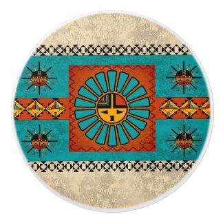 Botones de cerámica al sudoeste pomo de cerámica