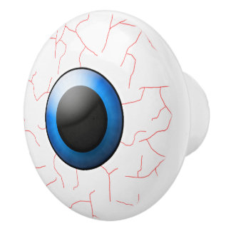 Botones de cerámica de Halloween del globo del ojo Pomo De Cerámica