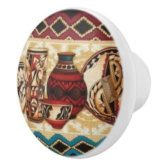 Botones de cerámica de la diversión al sudoeste pomo de cerámica