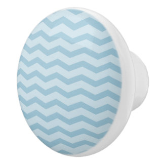 Botones de cerámica del tirón del zigzag del pomo de cerámica